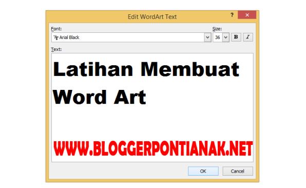 Tutorial Cara Membuat Word Art pada Microsoft Office Word Tingkat Pemula