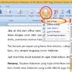 Trik Mudah Membuat Nomor Halaman di Ms Word 2007 Bagi Pemula Dalam 30 Detik