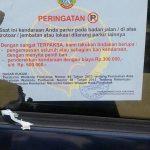WASPADALAH! Parkir Di Badan Jalan Protokol Pontianak Sanksi Cabut Pentil, Penderekan & Tilang Di Tempat