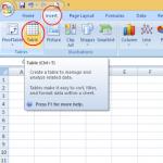 Trik Mudah Membuat Tabel di Microsoft Excel 2007 Bagi Pemula Dalam 30 Detik