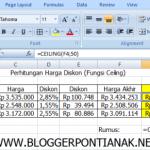 Tutorial Membulatkan Angka Desimal pada Microsoft Excel 2007 Untuk Pemula