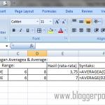 Cara Memaksimalkan Fungsi Average & Averagea pada Microsoft Excel 2007 [Panduan Pemula]