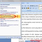 Cara Menyimpan File dengan Nama berbeda pada Word 2007 untuk Pemula