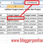 Cara Mengubah Hurup Kecil menjadi Hurup Kapital (Sebaliknya) pada Excel 2007 untuk Pemula
