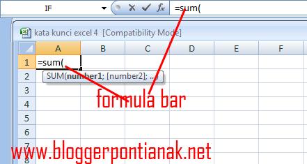 Cara Memasukan Rumus di Excel 2007