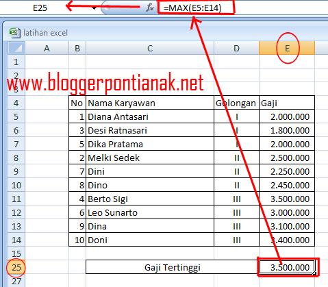 Cara Mudah Menemukan Nilai Tertinggi dan Terendah di Excel 2007