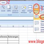 Cara Menggunakan Perintah Freeze Panes Excel 2007 untuk Pemula