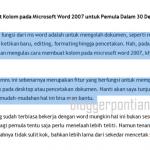 Cara Membuat Kolom pada Microsoft Word 2007 untuk Pemula Dalam 30 Detik