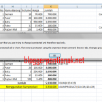 Cara Mudah Mengunci Rumus Excel 2007 untuk Pemula