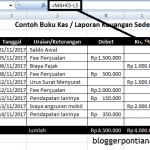 Cara Mudah Membuat Laporan keuangan Sederhana dengan Excel 2007 untuk Pemula