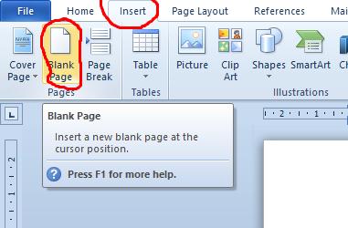 cara menambah halaman di microsoft word