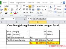 cara menghitung present value dengan excel